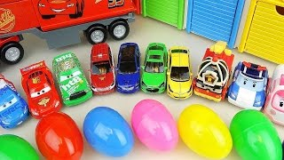 Download Cars Truck and Surprise eggs with Robocar Poli carbot car toys Video
