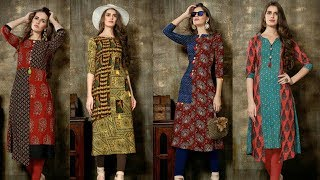 Download Designer Long Cotton Printed, Stylish Fancy Long Double Layer Kurti Kurta For women's|Trendy India Video