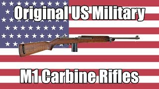 Download Original USA Military M1 Carbine Rifles For Sale At Classic Firearms Video