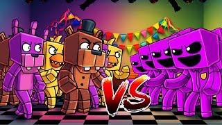 Download Minecraft | 100 FNAF ANIMATRONICS VS 100 PURPLE GUYS! (FNAF Massive Mob Battles) Video
