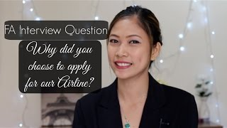 Download Why did you choose to apply for our airline?| FA Interview Question |MISSKAYKRIZZ Video