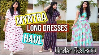 Download Myntra Maxi Dresses Haul(6 Dresses)| Under ₹800 | Casual & Party-wear Gowns Video