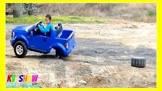 Download Kruz Joyriding His Power Wheel Ford F-150! The Wheel Fell Off! Video