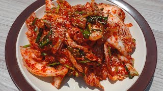Download Small portion fresh kimchi (Geotjeori: 배추겉절이 김치) Video