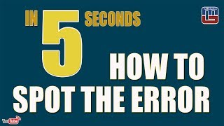 Download HOW TO SPOT THE ERROR IN 5 SECONDS | ENGLISH | SBI PO | SSC | BOB | NIACL | OTHER COMPETITIVE EXAMS Video