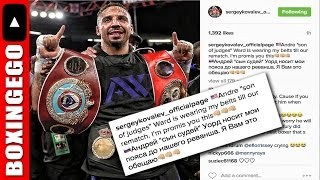 Download (LMAO) KOVALEV RIPS ANDRE WARD: CALLS HIM SOJ ″SON OF JUDGES″, HOLD MY BELTS -BOXINGEGO Video