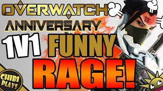 Download FUNNY NEW 1V1 MODE RAGE/FAILS! (Funny Overwatch Anniversary Gameplay) Video