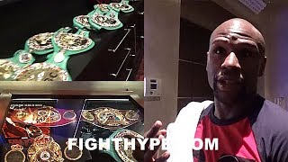 Download MAYWEATHER EXPLAINS MEANING OF UNDISPUTED; FLOSSES 22 WORLD TITLES AND MOST EXPENSIVE IN WORLD Video