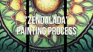 Download How to paint a Mandala Triptych Acrylic Painting Process - Barbara Din Video