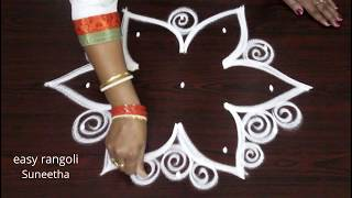 Download latest rangoli art designs by Suneetha || easy n simple kolam || beautiful muggulu Video