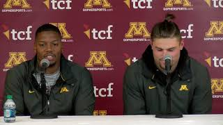 Download Press Conference: Blake Cashman & Thomas Barber on 41-10 Win vs. Purdue Video