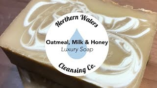 Download Oatmeal, Milk & Honey Cold Process Soap Making & Cutting | Northern Waters Cleansing Co. Video