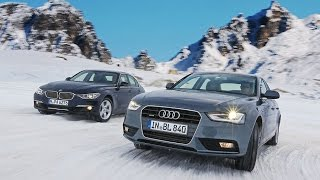 Download Audi Quattro vs BMW xDrive in Snow ❄️ 😛 Video