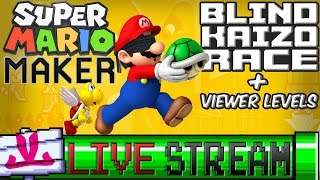 Download {LIVE} Blind Kaizo Race + Viewer Levels   Super Mario Maker Video