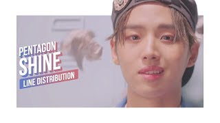 Download PENTAGON - SHINE Line Distribution (Color Coded) | 펜타곤 - 빛나리 Video
