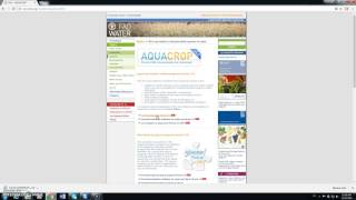 Download tutorial AquaCrop 0 descarga e instalacion Video