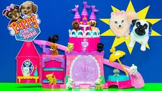 Download PUPPY IN MY POCKET Pretty Pet Palace + SURPRISE Puppy Video Toy Unboxing Video