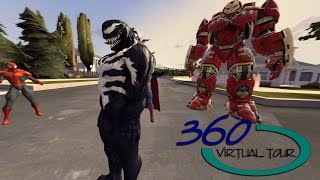 Download [360 vr video] Spider Man, BatMan, SuperMan, Ironman Marvel Hero Video