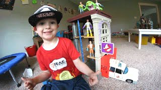 Download Father & Son Get BEST TOY EVER! / Ghostbusters Firehouse! Video