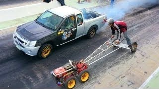 Download 5 HP Lawnmower VS 8 Cyclinder Turbocharged Pickup Truck Video