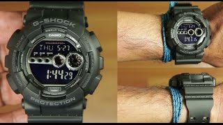 Download Casio g-shock GD-100-1B black : unboxing Video