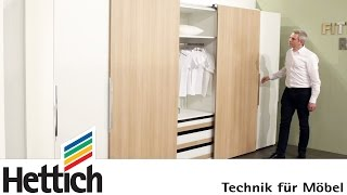 Download Technology for furniture in bedrooms: Hettich sliding door + drawer systems Video