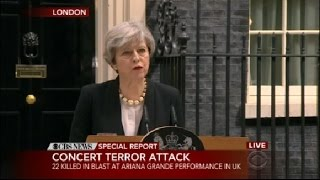 Download British Prime Minister Theresa May Speaks Out About Manchester Attack Video