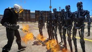 Download Ghost Rider VS Terminator Army Video