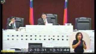 Download 2012-10-31黑道議長恐嚇加威嚇32個議員各各乖的像...唉 Video