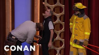 Download CONAN Stagehand Gets Penis Stuck In Wall - CONAN on TBS Video