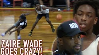 Download Zaire Wade BREAKING ANKLES IN 1ST HIGHSCHOOL GAME Infront of Dwyane Wade! GOES OFF for 26! Video