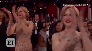 Download Nicole Kidman Stuns in 119 Carats of Jewels at Oscars - But Her Clapping Confuses! Video