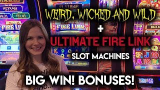 Download ULTIMATE Fire Link BIG WIN! Weird Wicked and Wild Slot Machine BONUS! Video