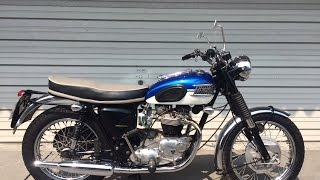Download 1970 Triumph TR6R engine start!! kick!kick! Video