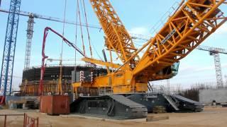 Download Монтаж крана ″Liebherr-11350″ на строительной площадке Белорусской АЭС Video