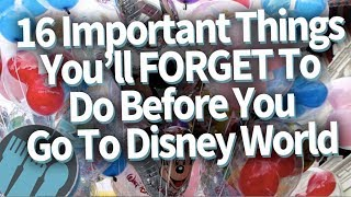 Download 16 IMPORTANT Things You'll Totally FORGET To Do Before You Go To Disney World Video