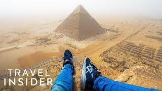 Download Teenager Illegally Climbed The Great Pyramid Of Giza Video