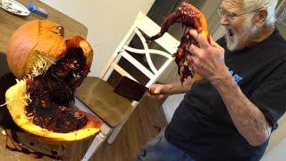 Download THE FAKE BLOOD FILLED PUMPKIN!! (PRANK) Video