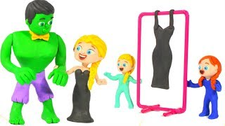 Download SUPERHERO & PRINCESS ELSA NEW DRESS ❤ SUPERHERO PLAY DOH CARTOONS FOR KIDS Video