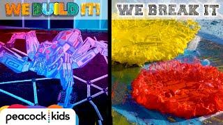 Download 3D Chalk Art vs. Swirling Paint Destroyer | WE BUILD IT WE BREAK IT Video