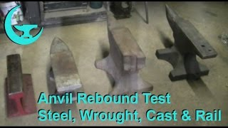 Download Anvil Rebound Test - Steel vs. Wrought vs. Cast Iron vs. Rail - All Compared Side By Side. Video