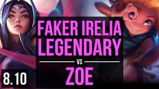 Download SKT T1 Faker - IRELIA vs ZOE (MID) ~ Legendary, KDA 17/3/7 ~ Korea Challenger ~ Patch 8.10 Video