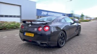 Download Nissan GT-R Spec V - Brutal Accelerations & Drag Race! Video