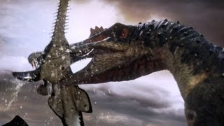 Download Spinosaurus fishes for prey | Planet Dinosaur | BBC Video