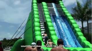 Download Party Rental Boca Raton Biggest Water Slide In Florida Donald Trump Party Video