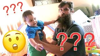 Download TWINS REACT TO DAD SHAVING BEARD | NEVER SEEN HIM SHAVED Video