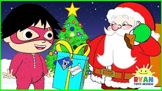 Download Ryan Helps Santa delivering presents | Christmas Cartoon Animation for Children Video