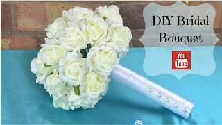 Download DIY Bridal Bouquet: How to create your own bridal wedding flowers bouquet using foam flowers. Video