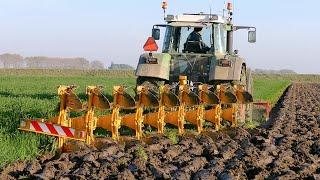 Download Ploughing using a 9 furrow Rumptstad ECO Plough | FENDT 824 Turbomatik | ploegen / Pflügen Video