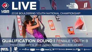 Download Female Youth B • Qualifiers • 2018 Youth Bouldering Nationals • 2/9/18 8:00 AM Video